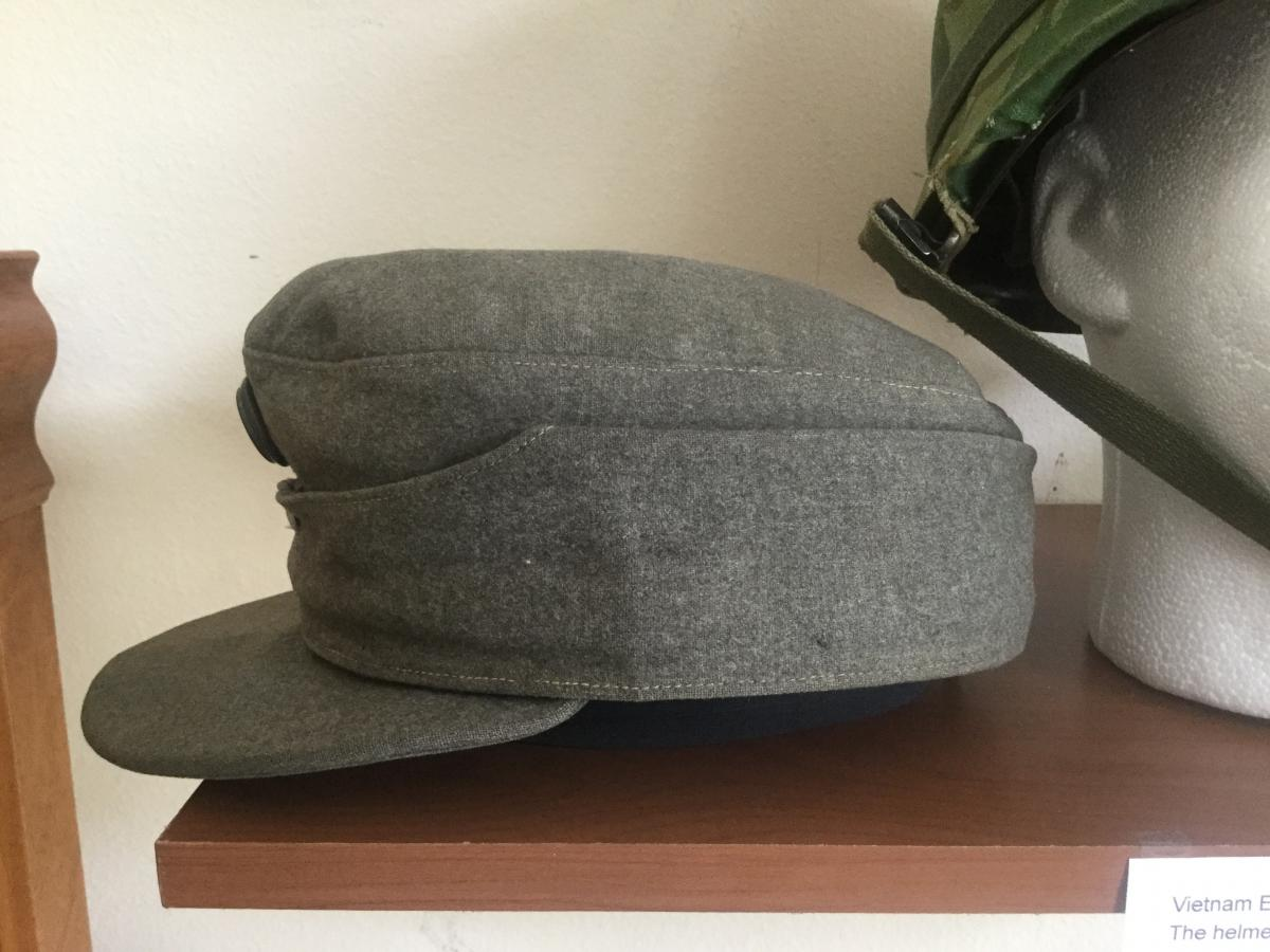 Ww2 German Police M43 Hat Badge: Post War? M43 Cap With Austrian Ww1 Insignia?? What The