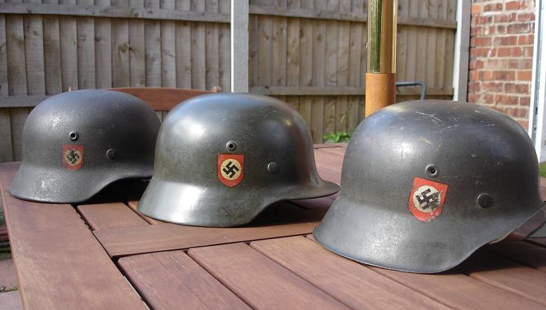 German Police Double Decal Helmets - Helmets and Headgear - Treasure