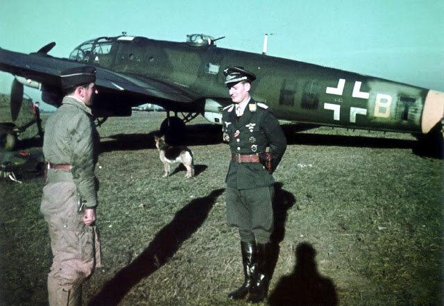 bomber ace luftwaffe german air force walter grasemann dog aircraft pilot color.jpg