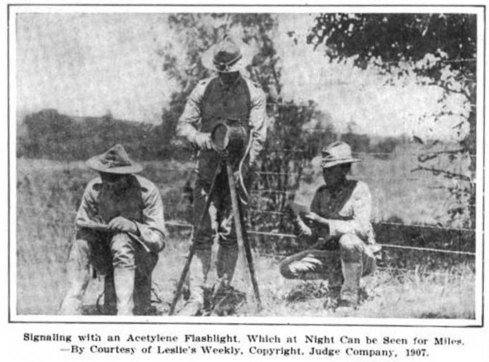 1907 photo - apparent basis for postcard
