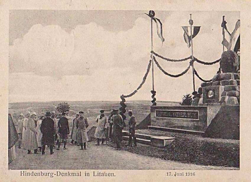 Hindenburgo paminklas Lyduvėnuose 1916 m. Birželio 17 d..jpg